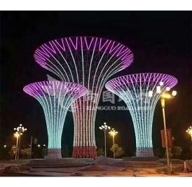 大型景观灯现场安装实景案例